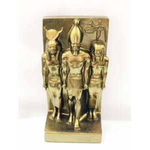 Hathor-Osiris-Horus (Auset-Ausar-Heru) Üçlü Trinity Heykel