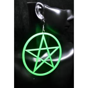 Büyük Pentagram Küpe Yeşil